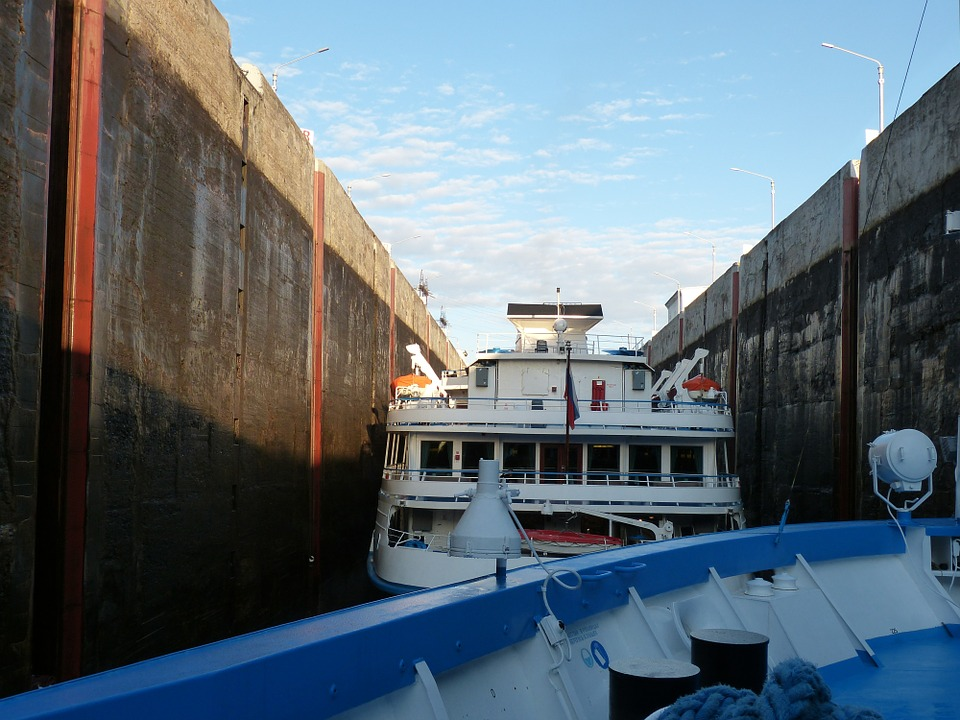 Lake Ladoga, Lock, Channel, Russia, Cruise
