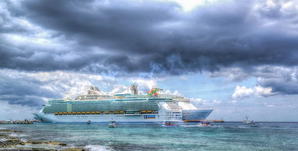 Cruise Ship, Caribbean, Clouds, Vacation, Sea, Travel