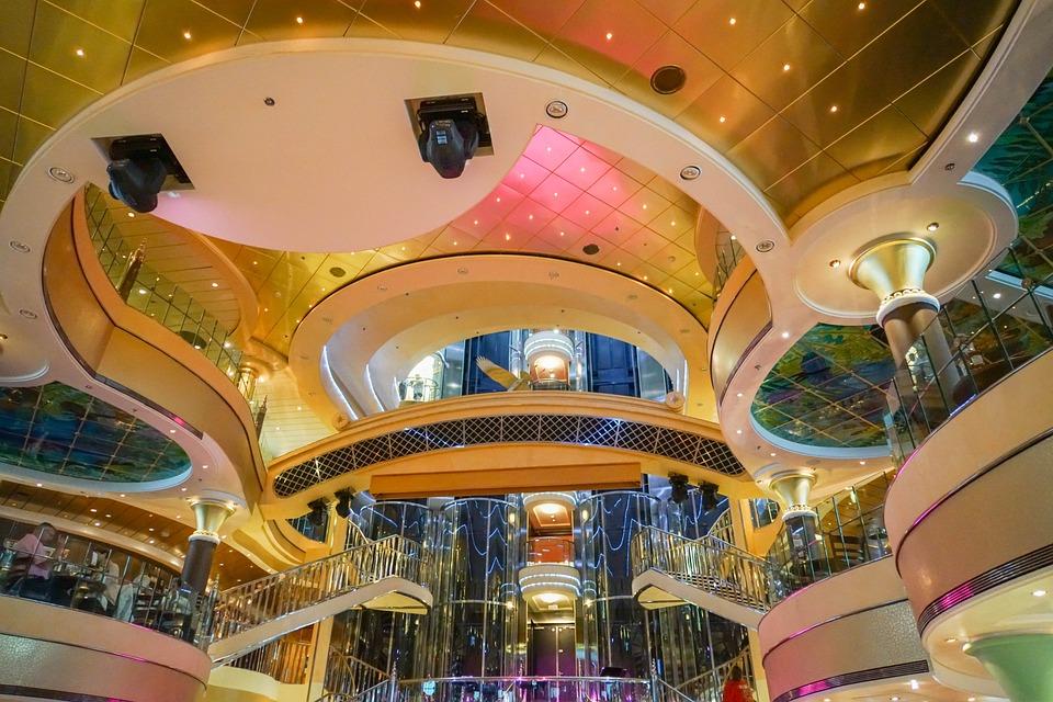 Cruise Ship, Decor, Ornate, Interior, Decoration