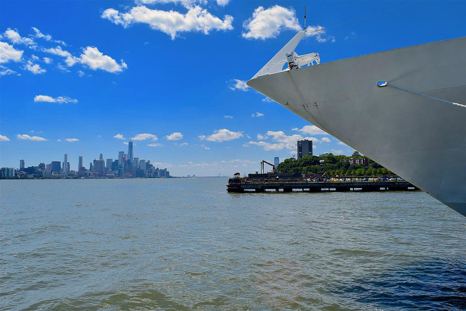 New York, Hudson River, Port, Dock, Cruise Ship, Water