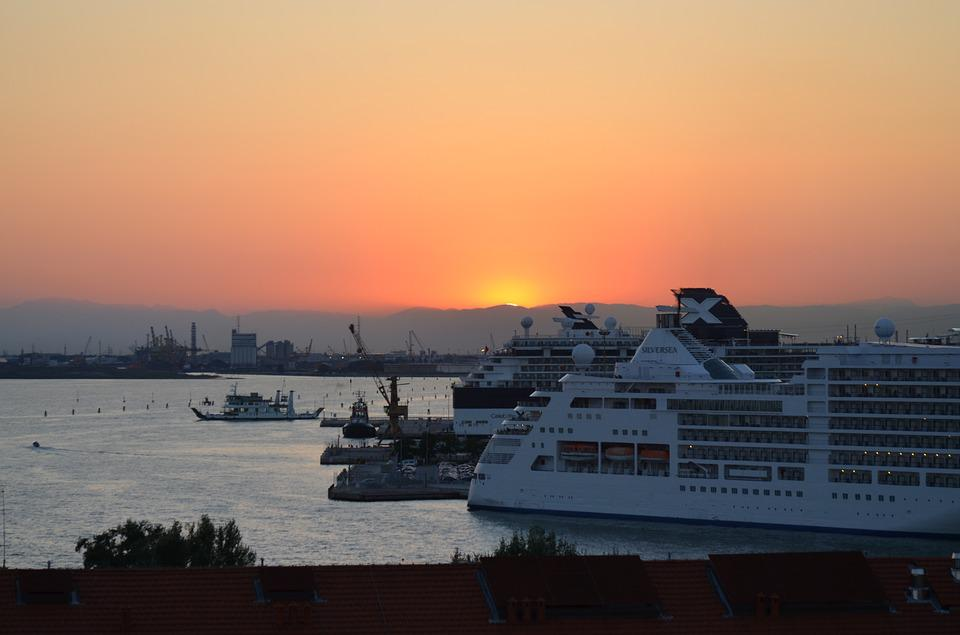 Free Photo Cruise Ship Lagoon Port Venice Tourism Sunset Max Pixel - Cruise ships in venice port