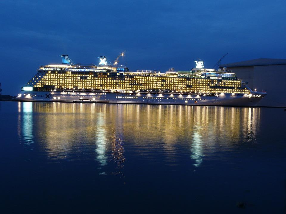 Cruise Ship, Cruise, Ship, Twilight