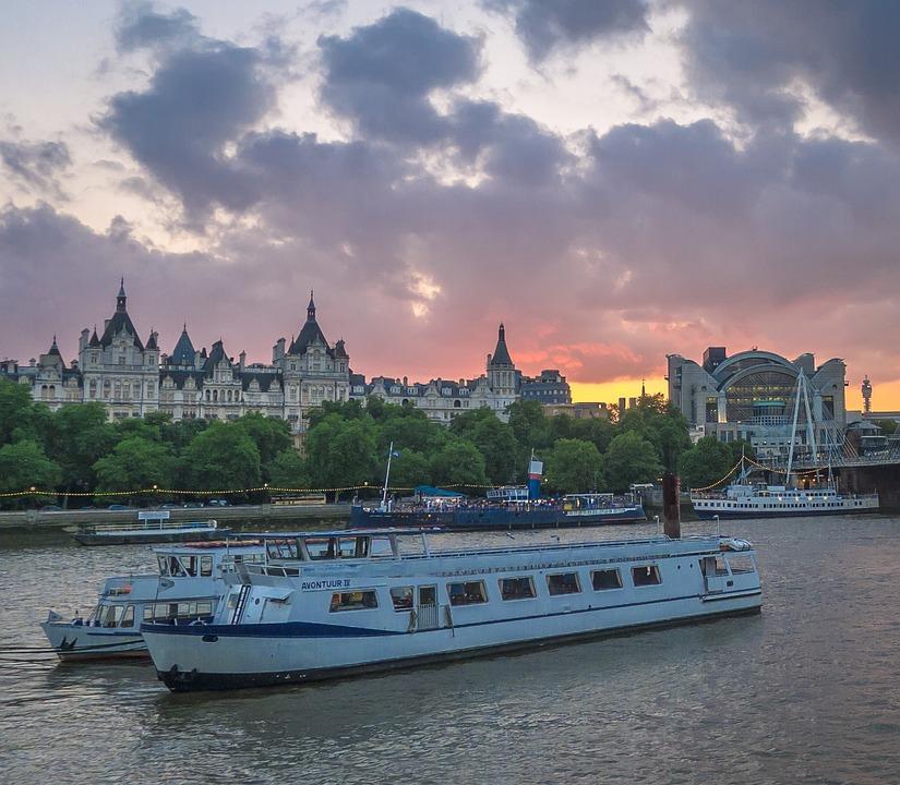 Thames, London, Ships, Cruise, Water, Marina, River