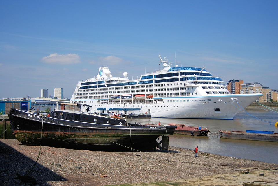 Cruise, Liner, Tourism, Ocean, River Thames, Shipping