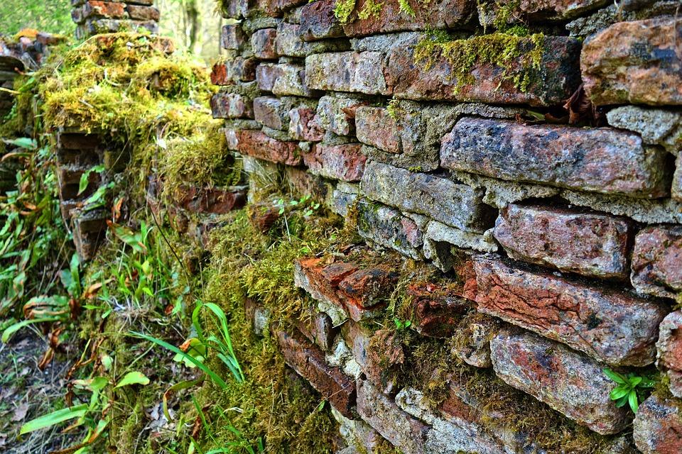 Crumbling Brick Wall, Crumbling Wall, Wall, Brick