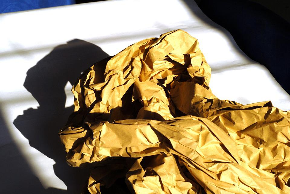 Wrapping Paper, Crumpled, Shading