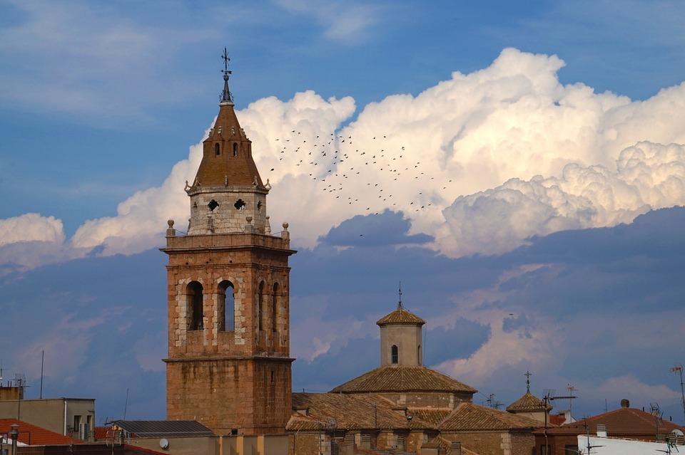 Birds, Bell Tower, Bird, Cruz, Veleta, Landscape