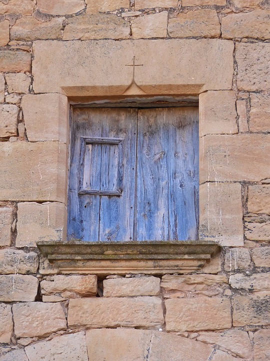 Window, Cruz, Medieval, Carved Stone, Architecture