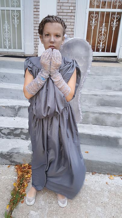 Crying Angel, Costume, Heluvin, Doctor Who, Grey