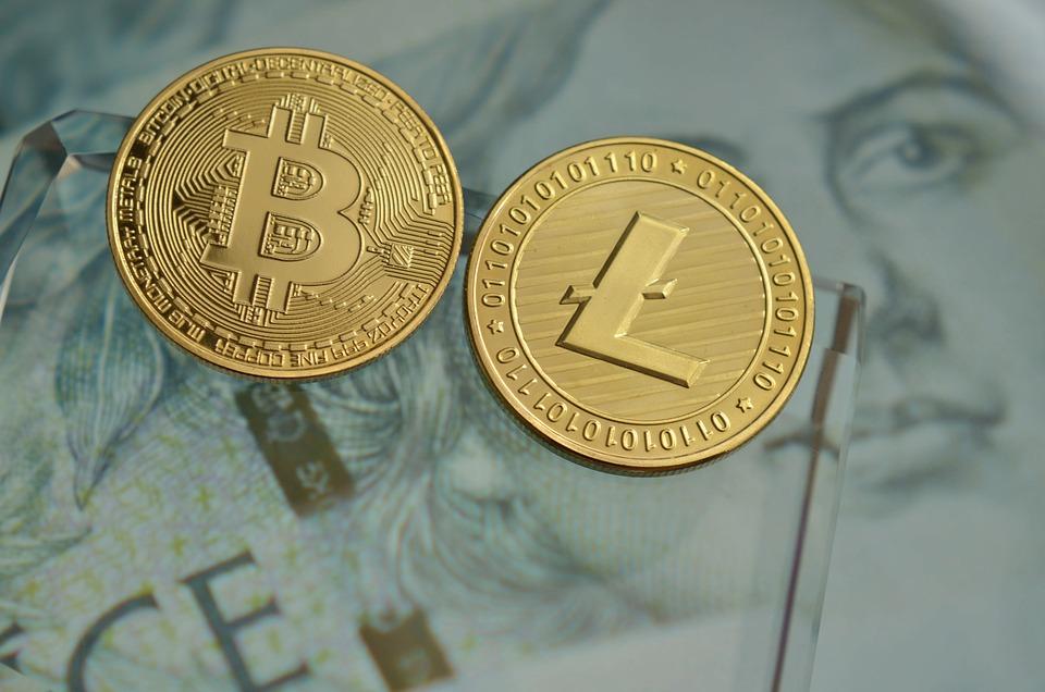 Litecoin, Bitcoin, Cryptocurrency, Coins, Money