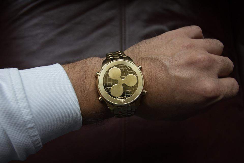 Hand, Man, Cryptocurrency, Ripple, Watch, Wrist, Time