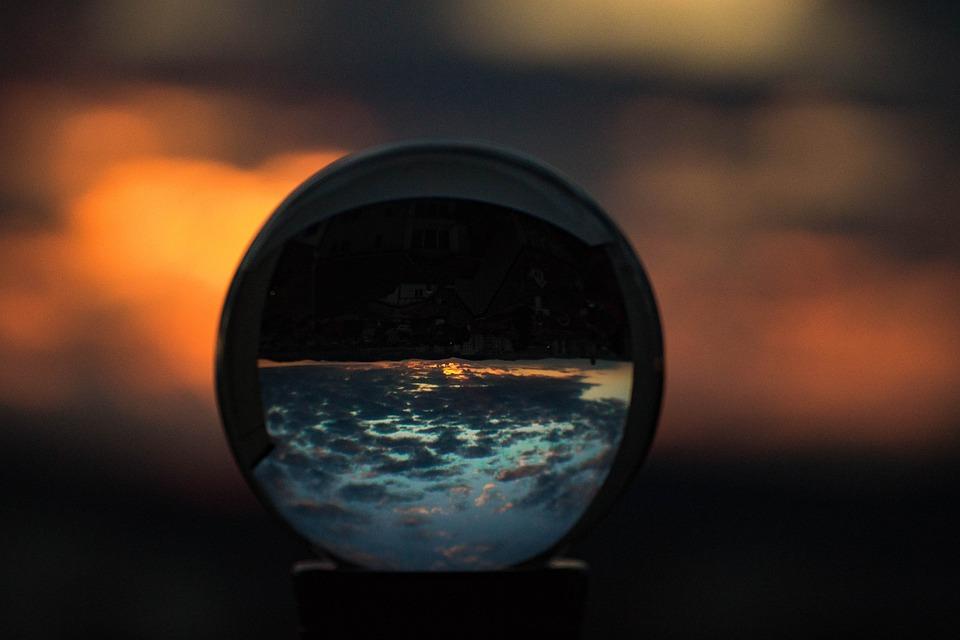 Sunset, Crystal Ball, Photo Ball, Glass Ball, Ball