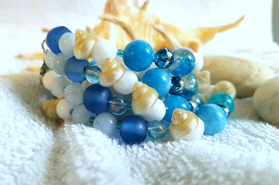 Gem, Sea, Beads, Crystal, Jewelry, Summer, Shell, Blue
