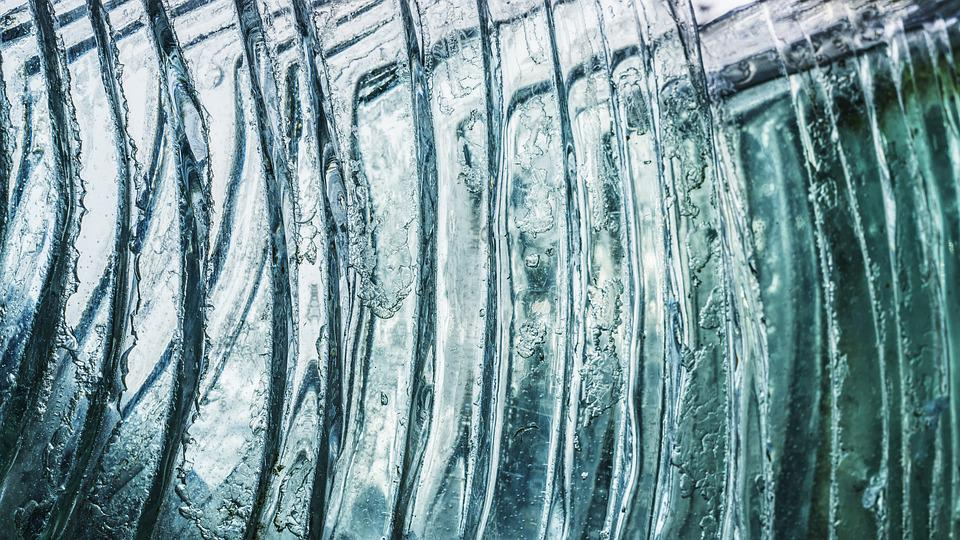 Glass Window, Ice, Crystal, Frost, Abstract, Background