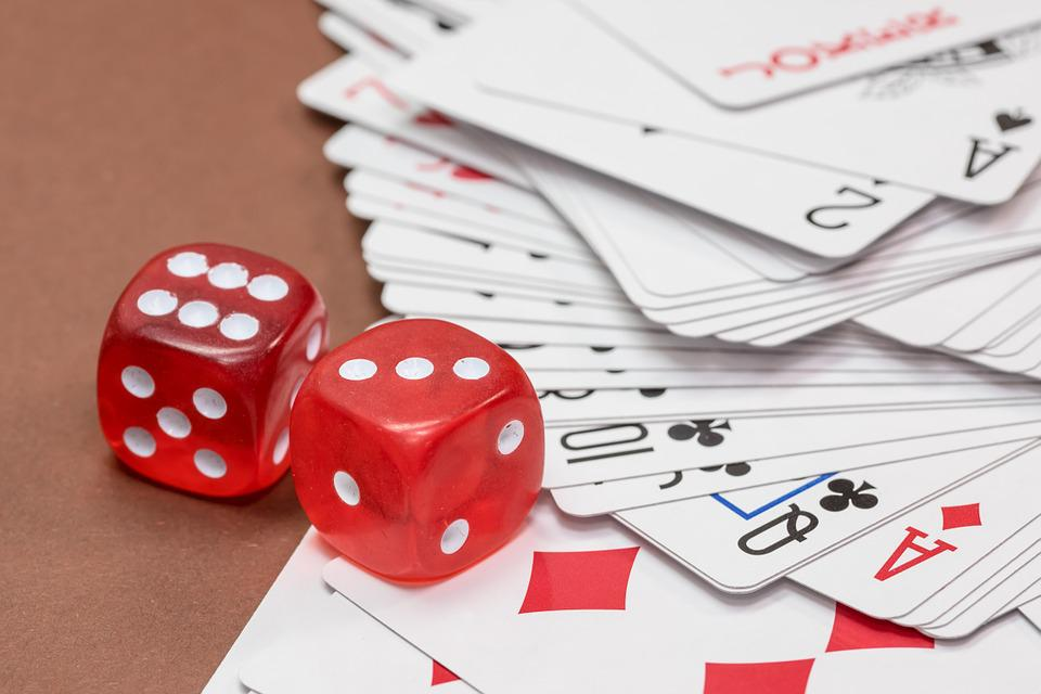 Cube, Gambling, Card Game, Roll The Dice, Cards