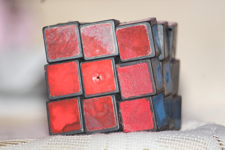 Cube, Rubiks Cube, Red, Puzzle, Game, Play, Brain