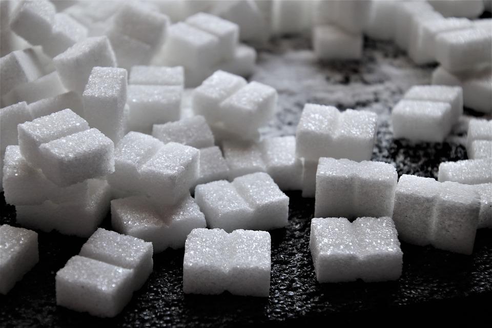 Sugar, Sweet, Black And White, Cubes, Calories