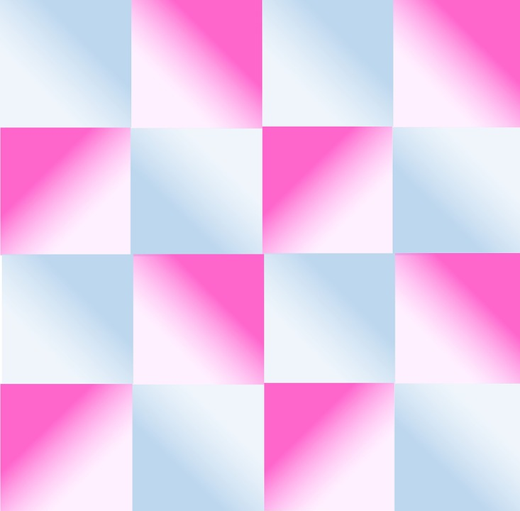 Gradient, Blue, Pink, Geometric, Design, Blocks, Cubes
