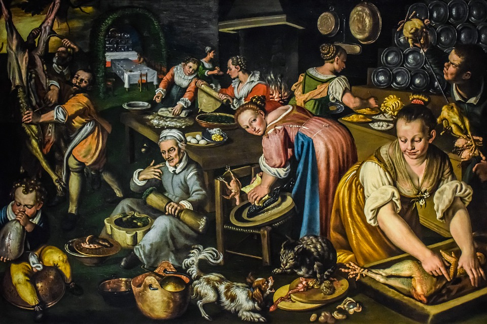 Vincenzo Campi, Cucina, Painting, Art, 1580, Famous