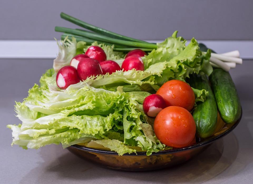 Vegetables, Cucumber, Onion, Salad, Food, Healthy