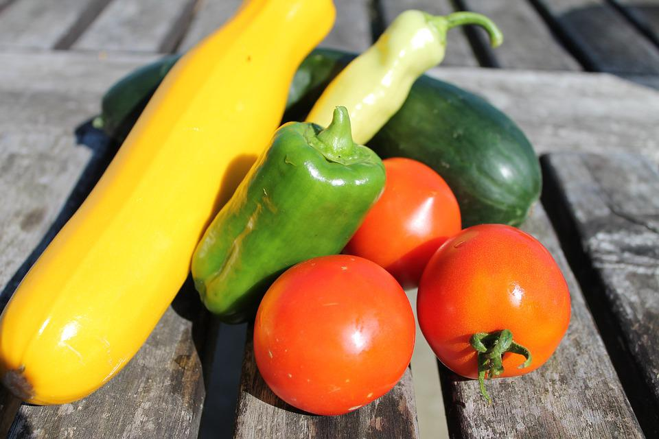Vegetables, Tomato, Paprika, Zucchini, Cucumber, Ripe