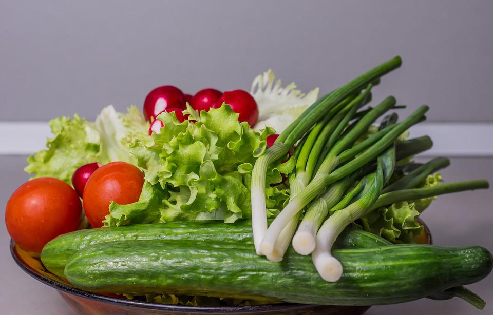 Vegetables, Cucumber, Onion, Salad, Food, Healthy