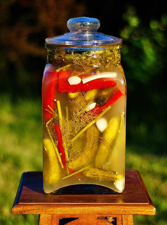 Cucumbers, Pickled, Preparations, Eating, Jar