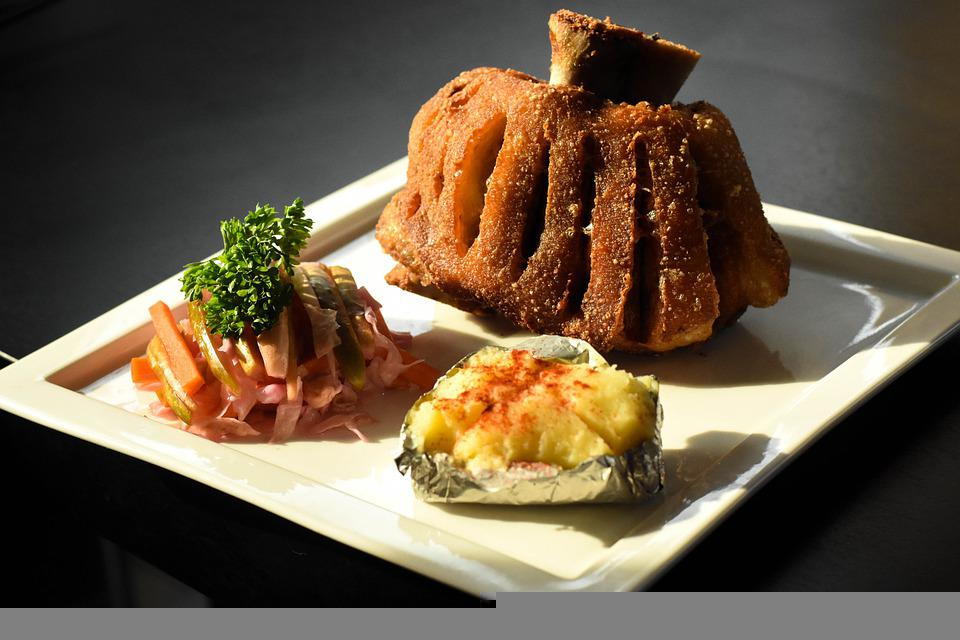 Cuisine, Meal, Dish, Food, German Pork Hocks