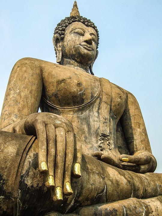 Thailand, Buddha, Statue, Culture, Peaceful, Meditate