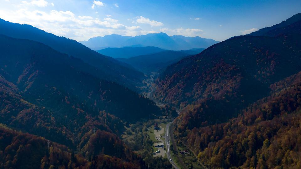 Mountains, Romania, Cross, Clouds, Culture, Brasov