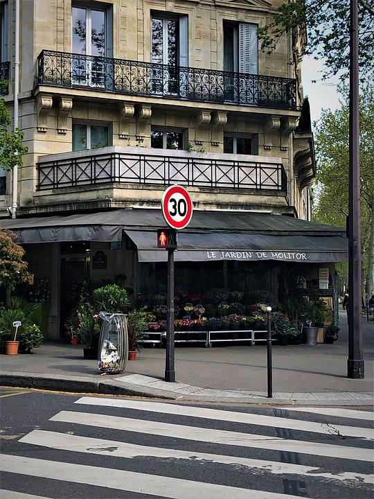 Paris, France, Architecture, Building, Culture, Florist