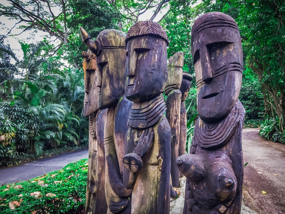 Wood, Sculpture, Face, Old, Statue, Culture, Craft