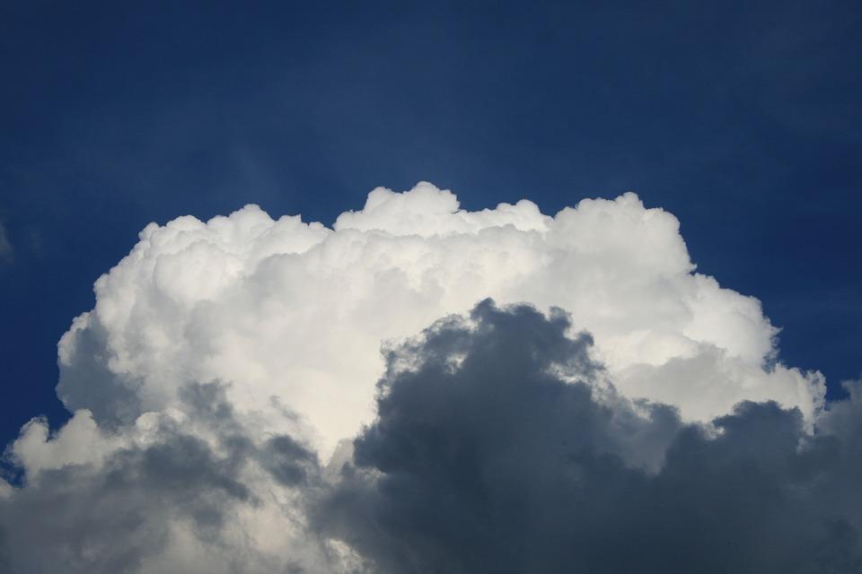Cumulus, Cloud, White, Steam, Sky, Blue