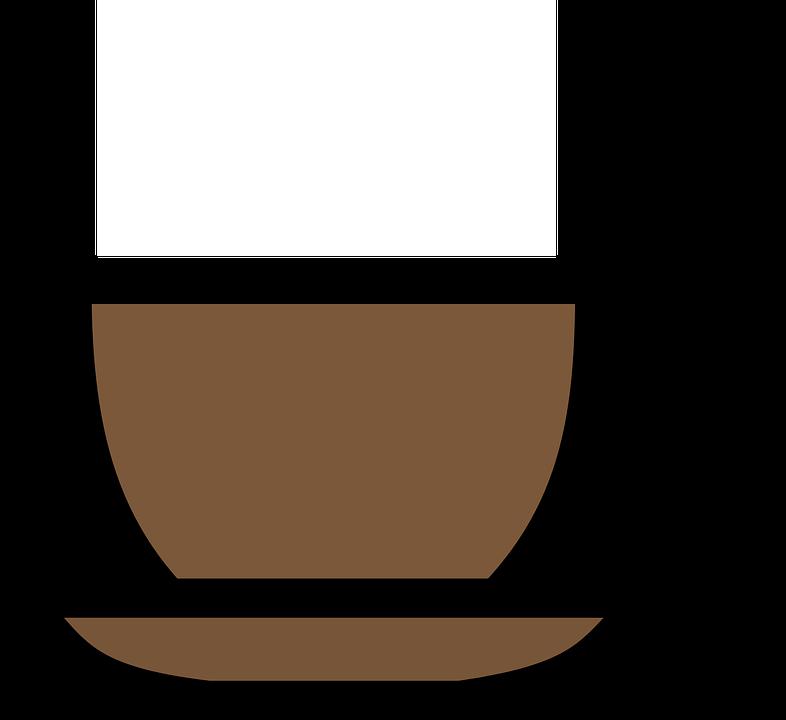 Cup, Coffee, Saucer, Espresso, Hot, Beverage, Brown