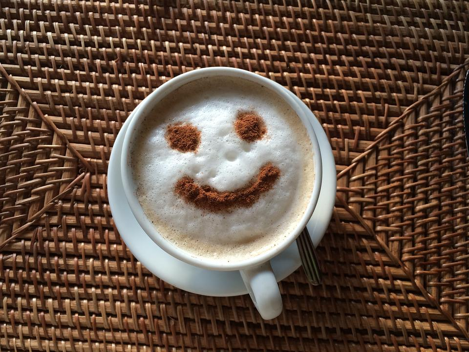 Coffee, Morning Smile, Cup, Drink, Happy, Smiling