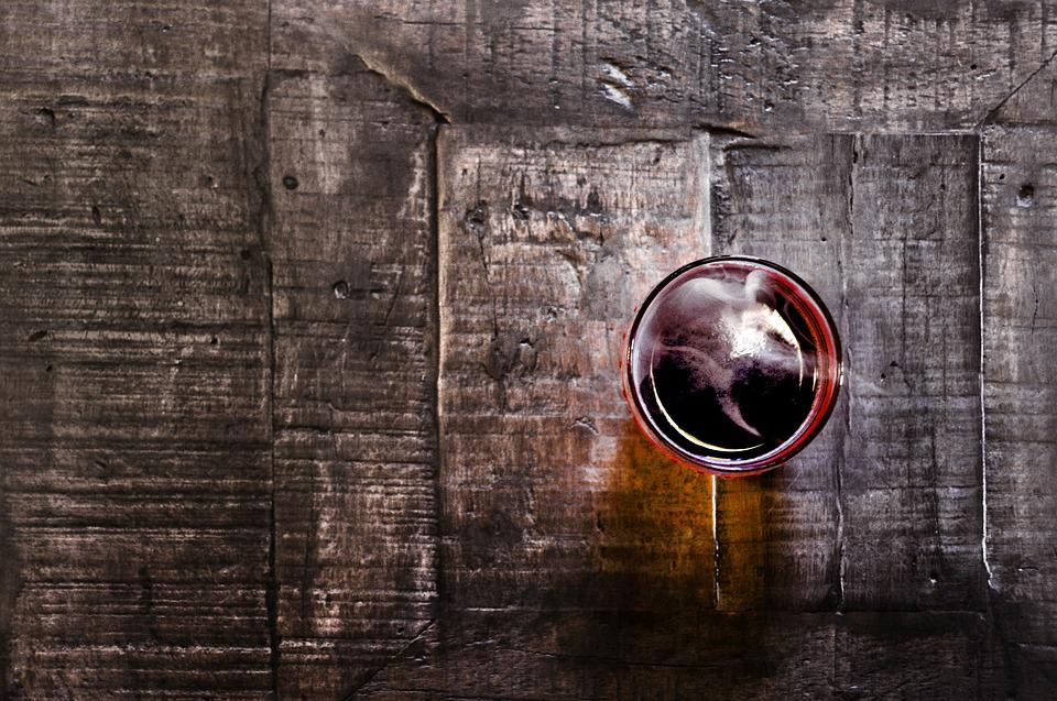 Coffee, Cup, Glass, Table, Wooden Table, Old