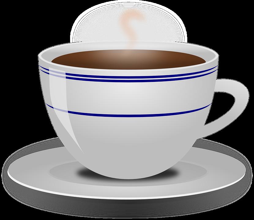 Coffee, Cup, Drink, Food, Hot, Beverage, Saucer, Steam