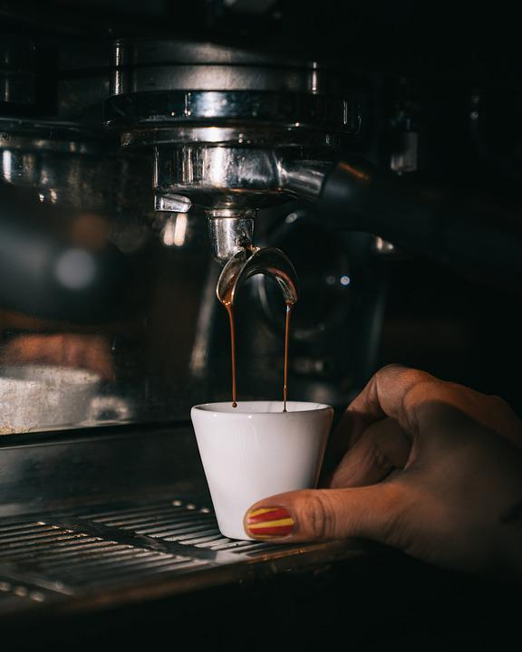 Coffee, Espresso, Coffee Machine, Hand, Cup