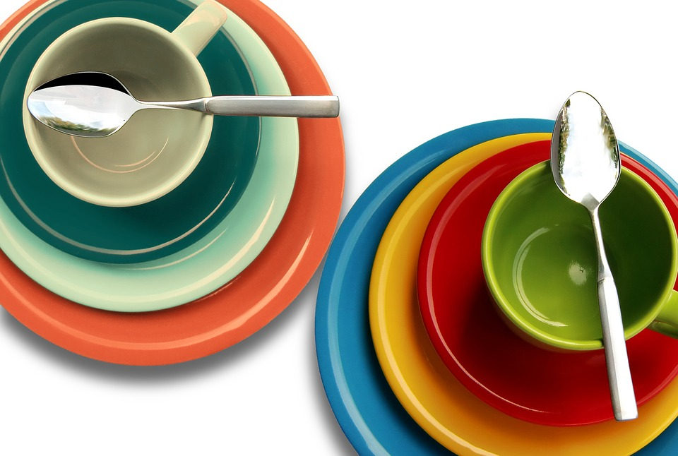 Plate, Cup, Colorful, Cover, Tableware