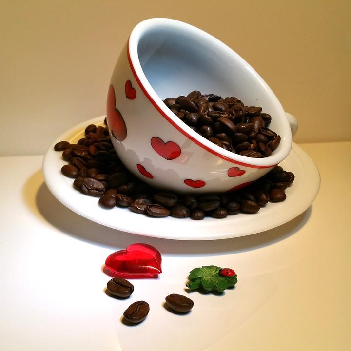 Valentine's Day, Heart, Ladybug, Cup, Coffee, Love