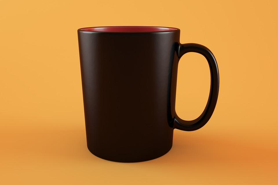 Mug, Mockup, Cup, Drink, Beverage, Lifestyle, Working