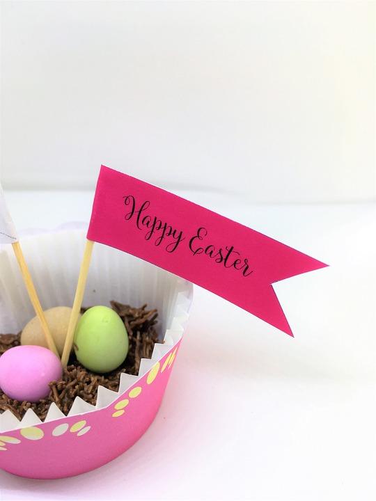 Happy Easter, Easter Eggs, Easter Cake, Cupcake