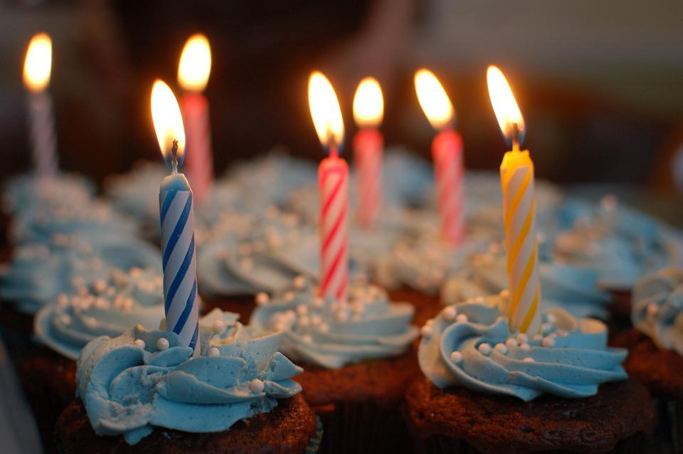 Birthday Cake, Cake, Birthday, Cupcakes, Candles, Party