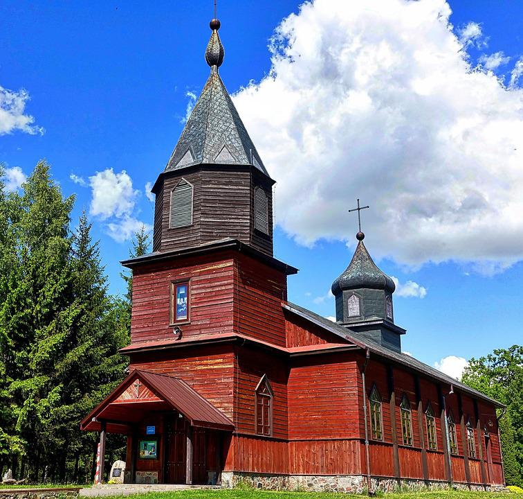 Church, Wooden, Chapel, Cupola, Architecture, Cultural
