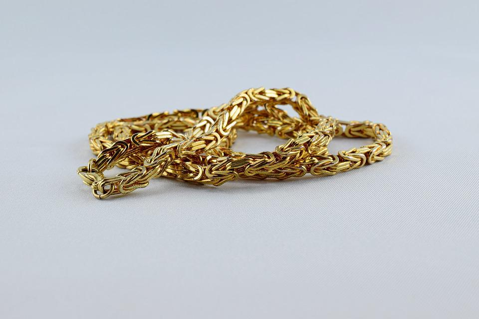 Curb Chain, King Chain, Yellow Gold, Necklace