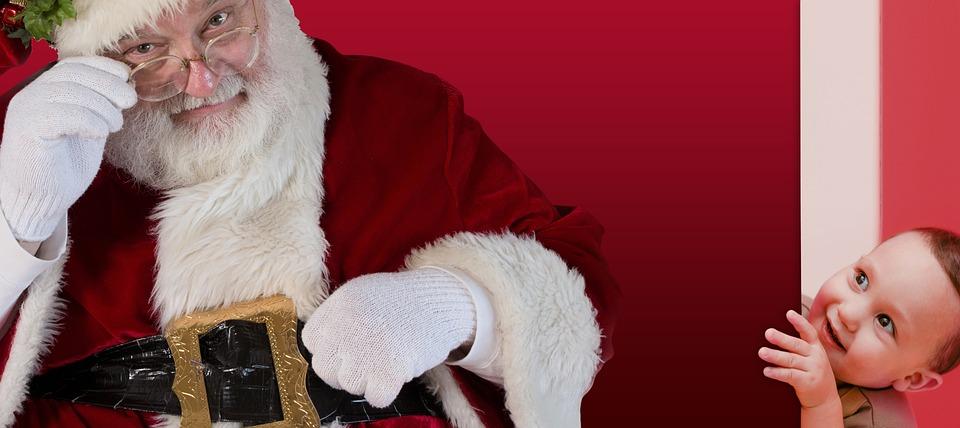 Christmas, Santa Claus, Child, Curiosity, Santa, Claus