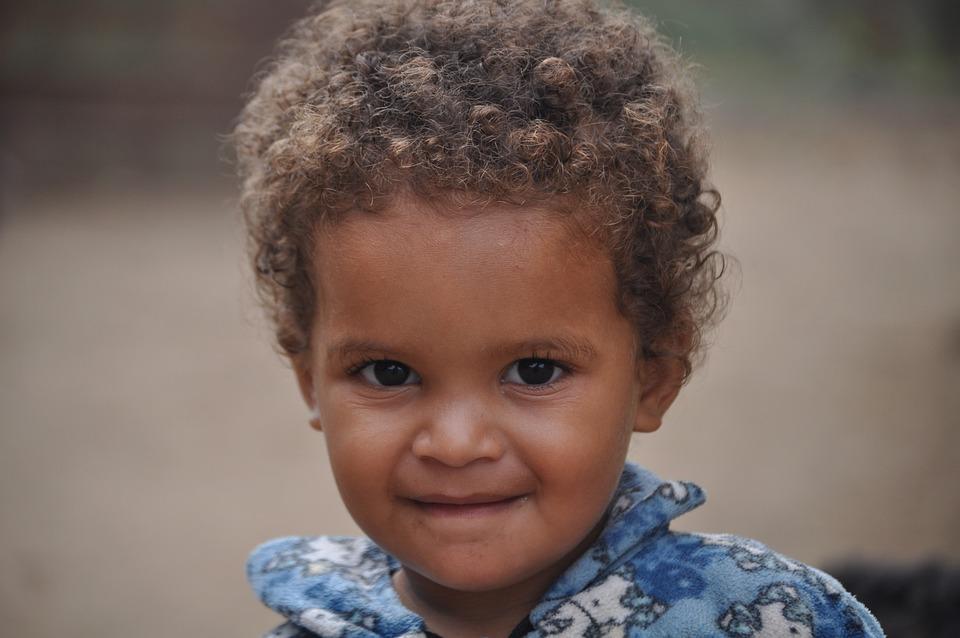 Curly Hair, Child, Portrait, Girl