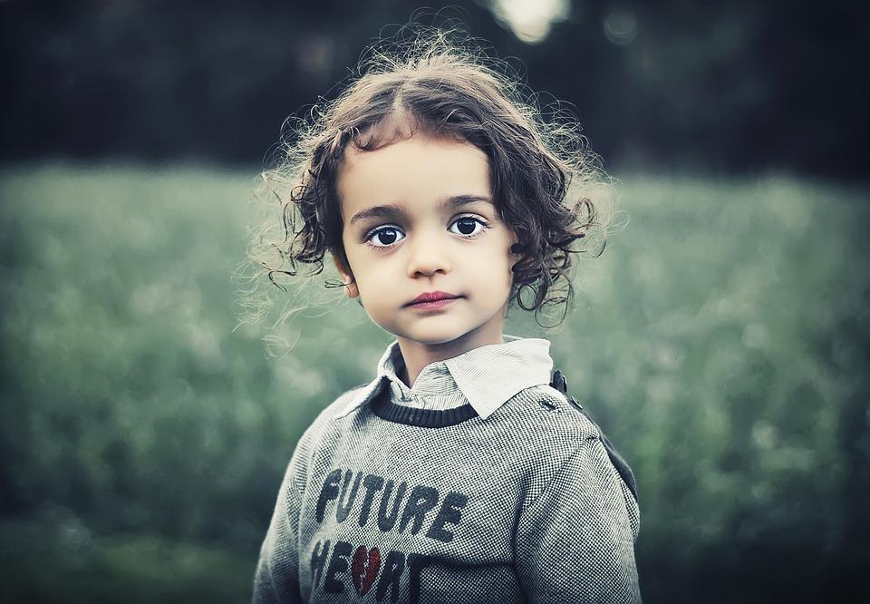 Child, Model, Beauty, Girl, Curly Hair, Female, Cute