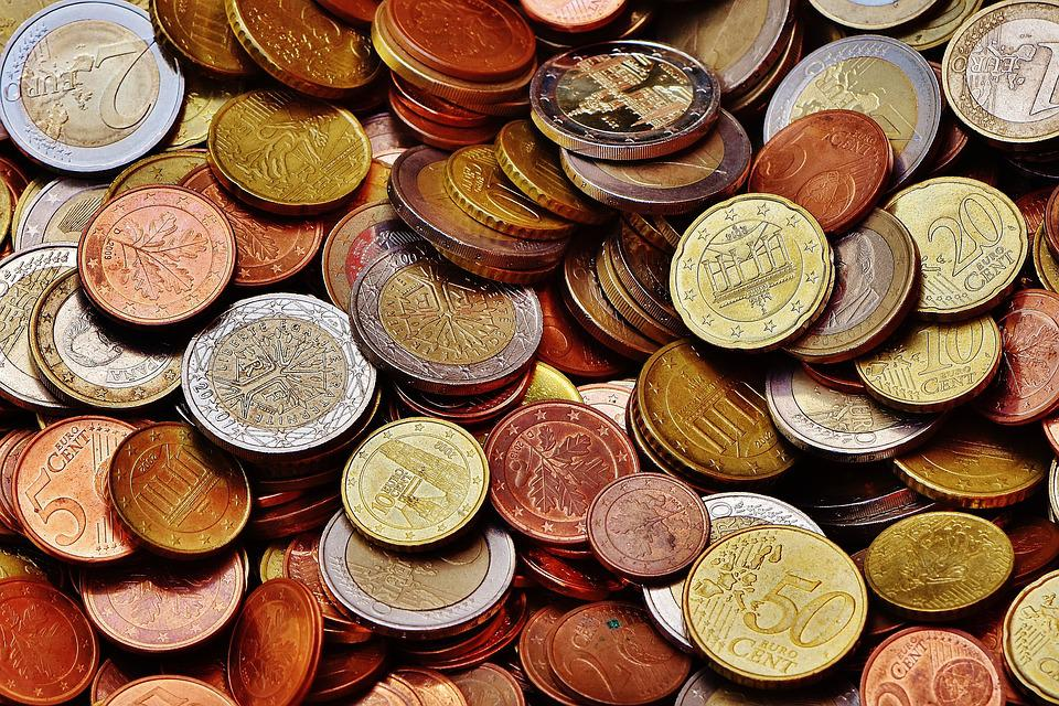 Money, Coins, Euro, Currency, Specie, Loose Change