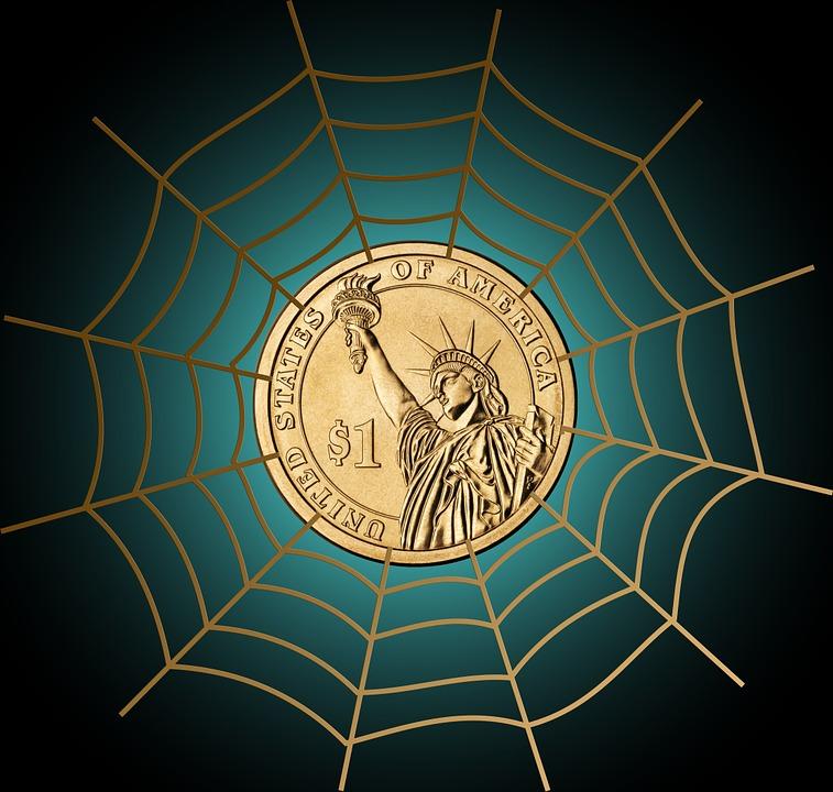 Dollar, Currency, Money, Cobweb, Network, Us-dollar